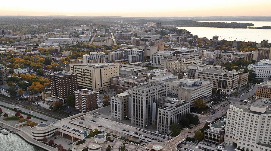Aerial photo of Madison
